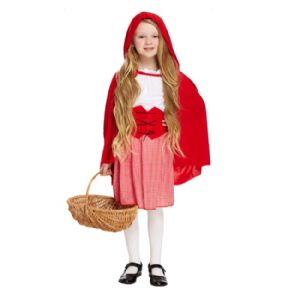 Age 10-12 Large GIRLS Childs Red Hooded Girl Riding Hood Fancy Dress Costume